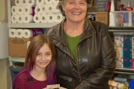 Local girl donates $400 to food bank