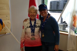 Mother and daughter compete together in seniors games