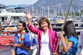 Carrying all the colours: Peachland mayor in 20th Okanagan Pride march