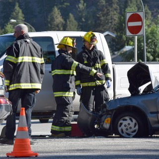 Collision on 97 snarls morning commute in Peachland