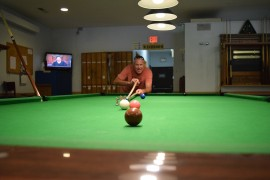 Gals and guys with sticks? Snooker returns to the Legion