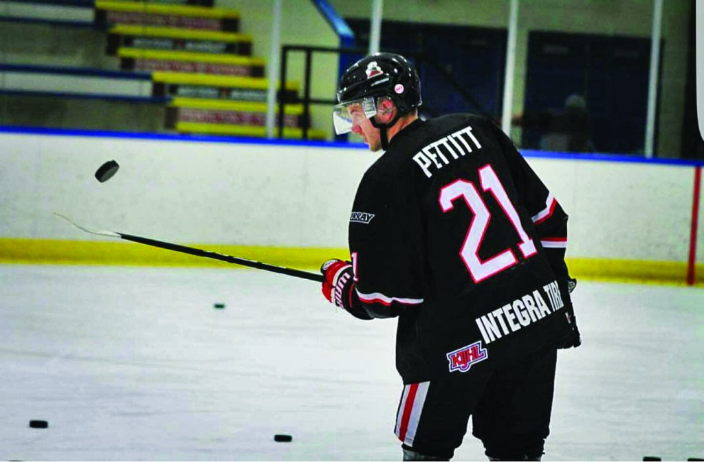 Riley Pettitt leads the Summerland Steam in scoring with 12 goals and 16 assists in 21 games.