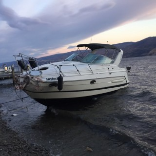 Boat accident in Peachland